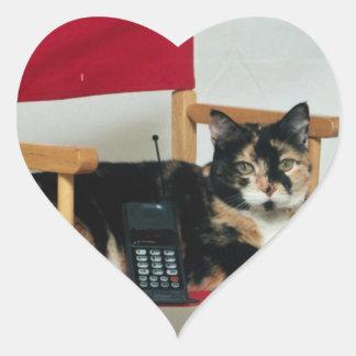 Tortie Director Heart Sticker