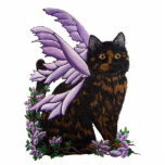 "Tortie Fairy Cat Statuette<br><div class=""desc"">original art by Pamela Fleming</div>"