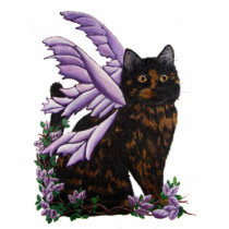 Tortie Fairy Cat Statuette
