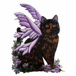 Tortie Fairy Cat Statuette