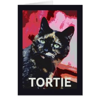 TORTIE Tortoiseshell Cat Card