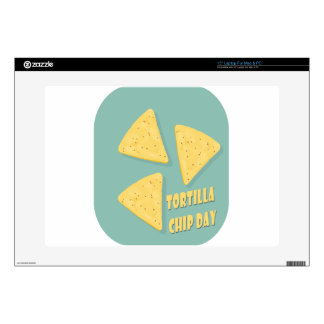 """Tortilla Chip Day - Appreciation Day 15"""" Laptop Decal"""
