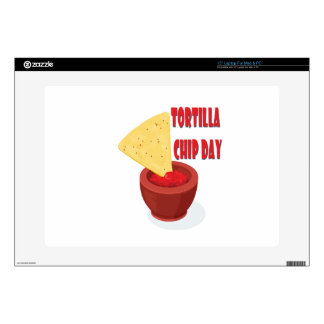 Tortilla Chip Day - Appreciation Day Decals For Laptops