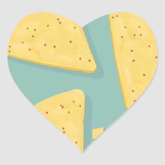 Tortilla Chip Day - Appreciation Day Heart Sticker