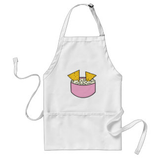 tortilla chips in dip adult apron