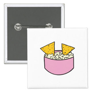 tortilla chips in dip 2 inch square button