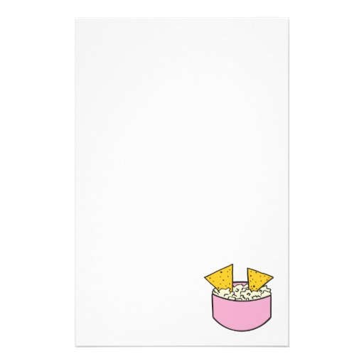 tortilla chips in dip personalized stationery