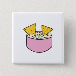 tortilla chips in dip pinback button