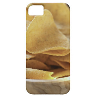 Tortilla chips in wooden bowl iPhone 5 case