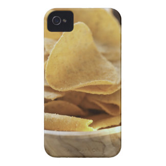 Tortilla chips in wooden bowl iPhone 4 case