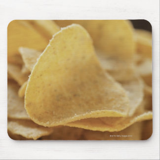 Tortilla chips in wooden bowl mouse pad