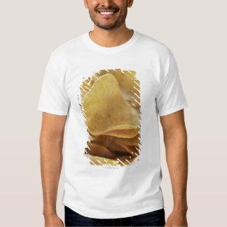 Tortilla chips in wooden bowl t shirt