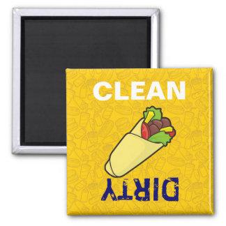 Tortilla Sandwich Wrap 2 Inch Square Magnet