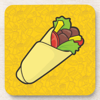 Tortilla Sandwich Wrap Beverage Coaster