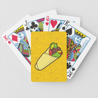 Tortilla Sandwich Wrap Bicycle Playing Cards