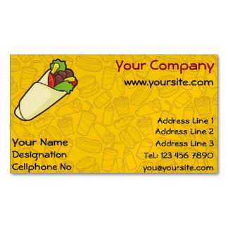 Tortilla Sandwich Wrap Business Card Magnet