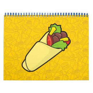 Tortilla Sandwich Wrap Calendar