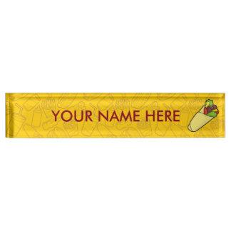 Tortilla Sandwich Wrap Desk Name Plate