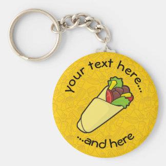 Tortilla Sandwich Wrap Keychain