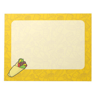 Tortilla Sandwich Wrap Notepad