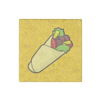 Tortilla Sandwich Wrap Stone Magnet