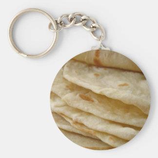 Tortillas de la harina llaveros personalizados