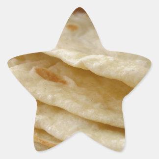 Tortillas de la harina pegatina en forma de estrella