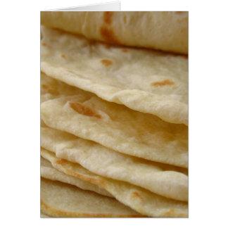 Tortillas de la harina tarjeta de felicitación