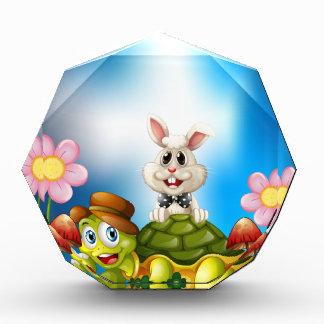 Tortoise and hare acrylic award