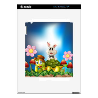 Tortoise and hare decals for iPad 2