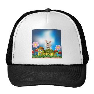 Tortoise and hare trucker hat