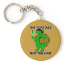 Tortoise and the Hair Keychain