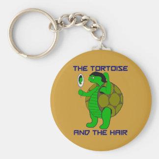 Tortoise and the Hair Keychain
