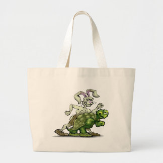 Tortoise and the Hare Large Tote Bag