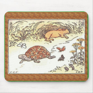 Tortoise and the hare mouse pad