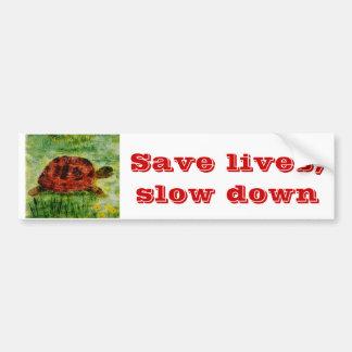 Tortoise Animal Art Bumper Stickers