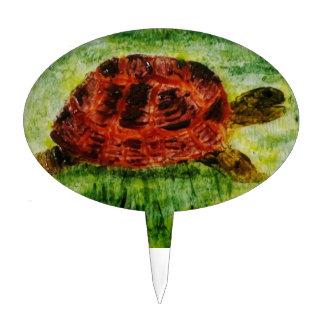 Tortoise Animal Art Cake Topper