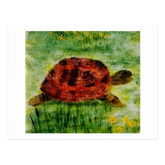 Tortoise Animal Art Postcard