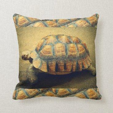 Beach Themed Tortoise Beach Shell Throw Pillow