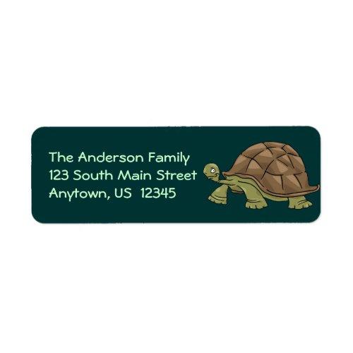 Tortoise Cartoon Label