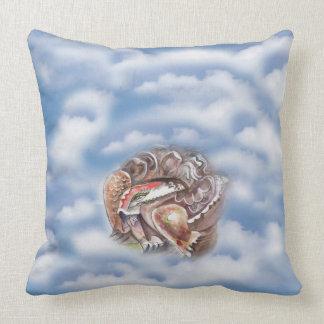 Tortoise in Cloud Throw Pillow