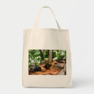 Tortoise in its own setting tote bag