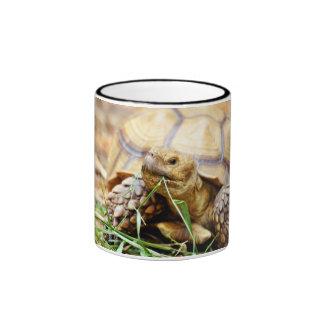 Tortoise Munching Grass Ringer Mug