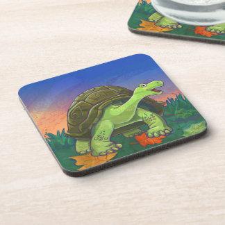 Tortoise Party Center Beverage Coaster