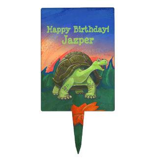 Tortoise Party Center Cake Topper