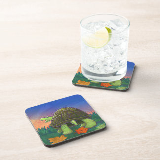 Tortoise Party Center Drink Coaster