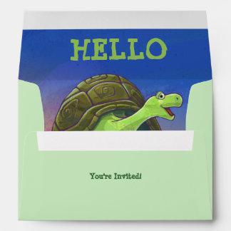 Tortoise Party Center Envelope