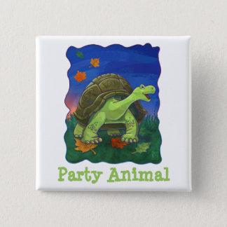 Tortoise Party Center Pinback Button