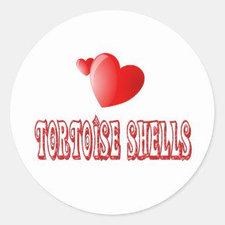 Tortoise Shell Cat Love Classic Round Sticker