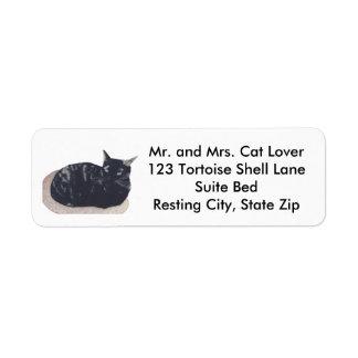 Tortoise Shell Cat Resting Address Labels